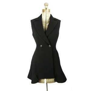 Dior uniform black wool sleeveless jacket 2
